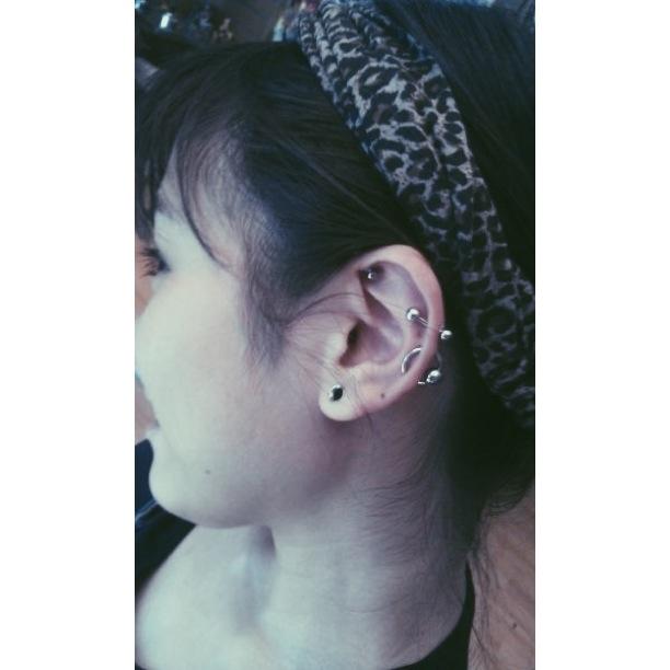 Custom Work: Double Cartilage Piercing w/BCR.
