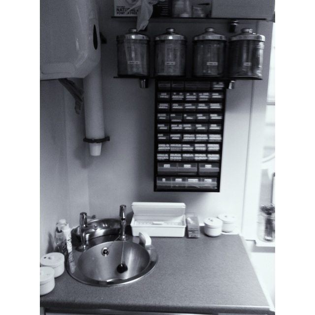 old studio sink set-up