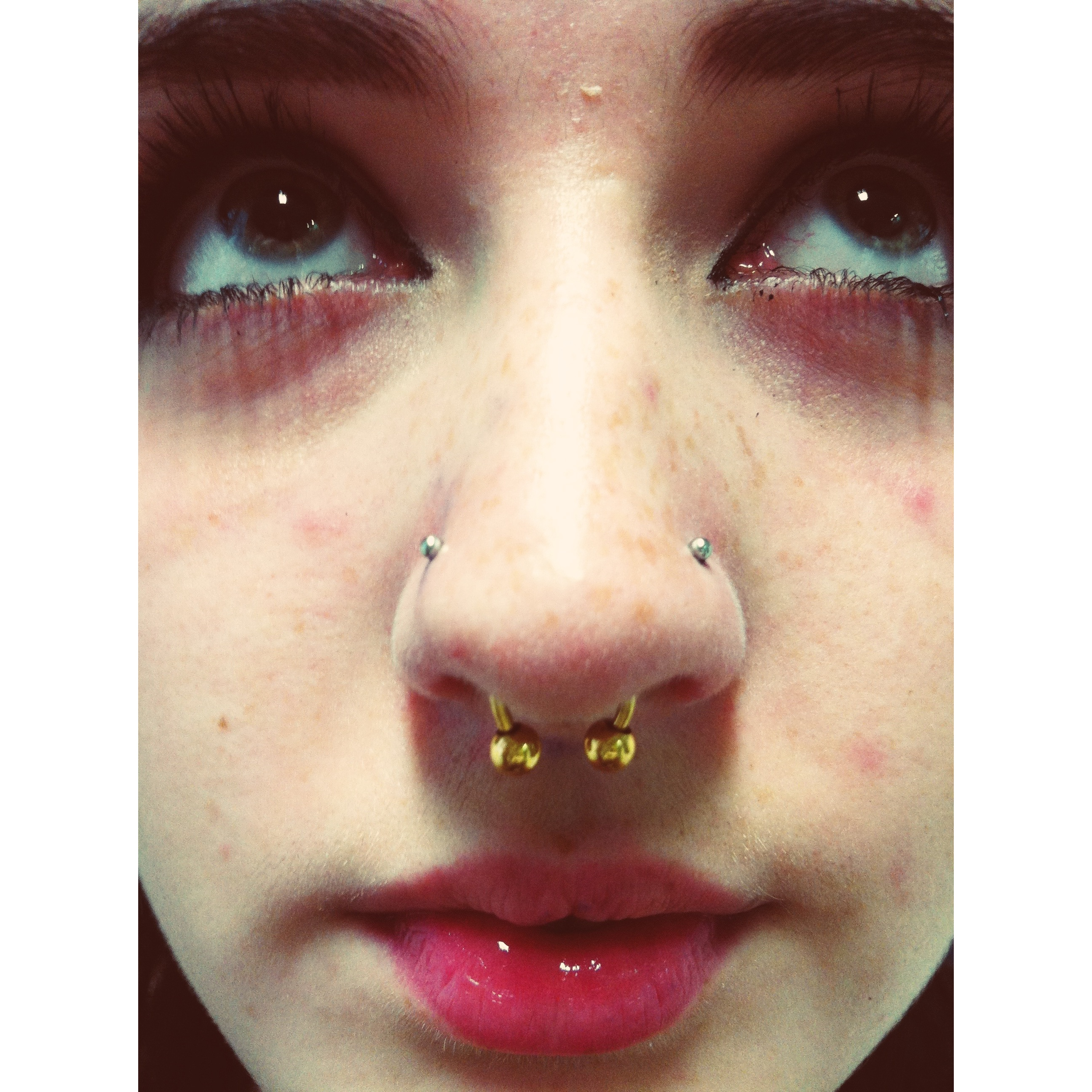 Double Nose Piercings El Capitan Body Piercer
