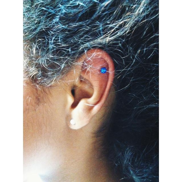 Top Ear w/Blue Disco Ball