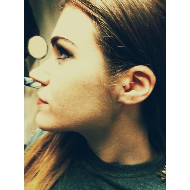 Hanna's Tragus Piercing