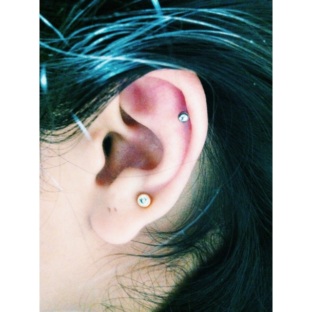Left Top Ear Piercing