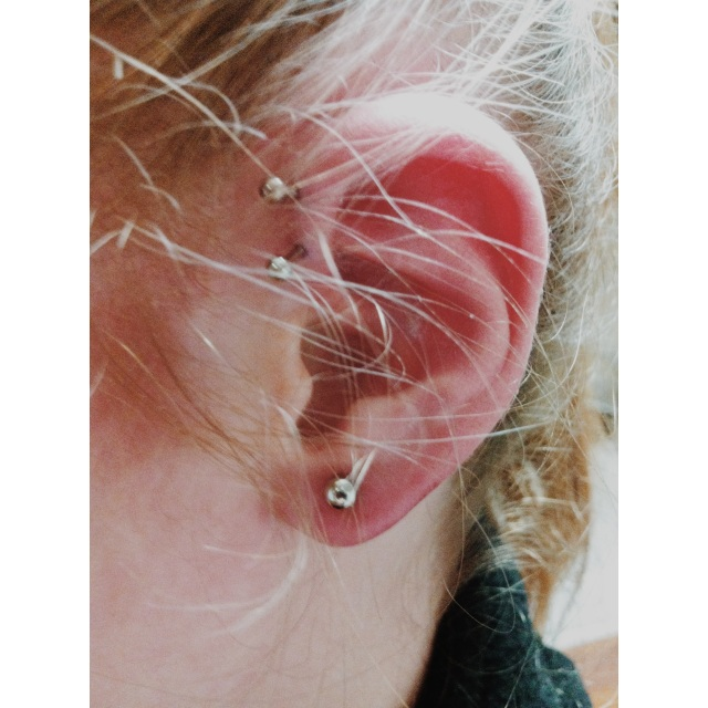 Double Inner Pinner Piercings