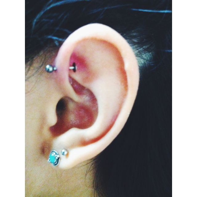 Left Ear Inner Pinner Piercing