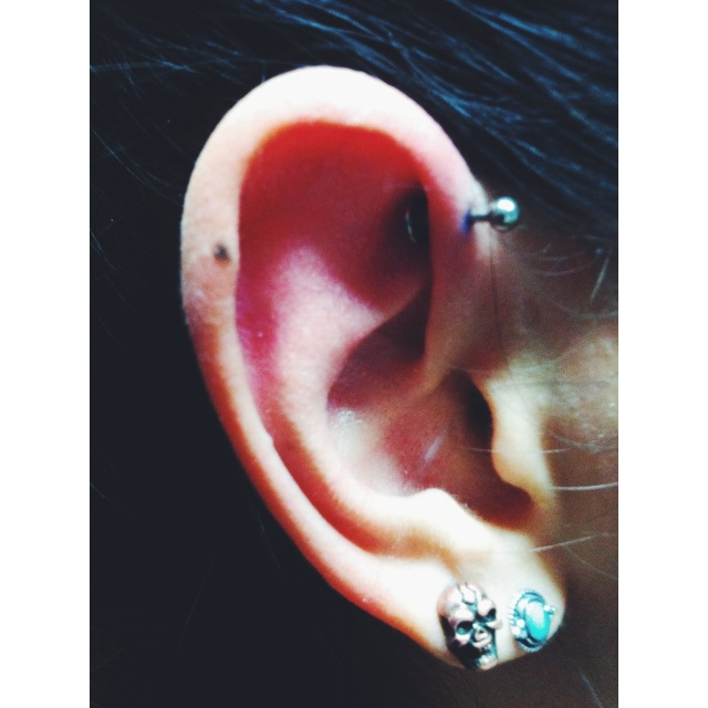 Jasmine's Right Ear Inner Pinner Piercing