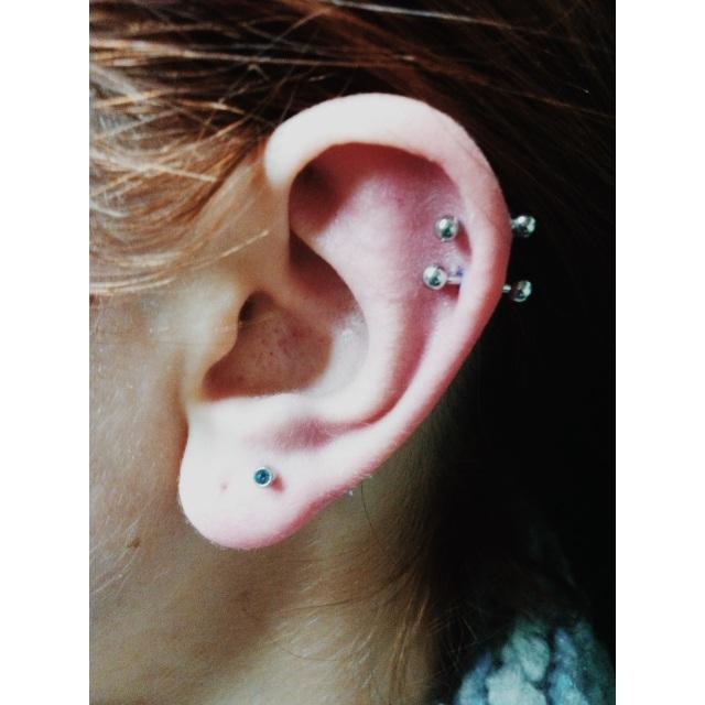 Double Top Ear Piercings