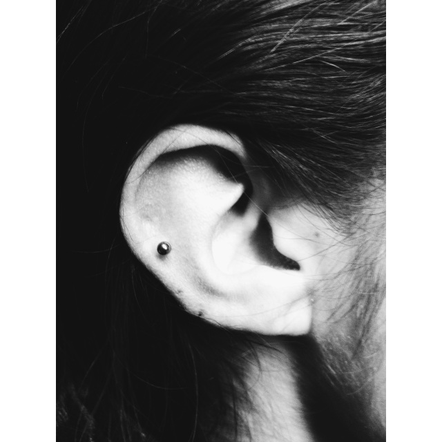 Mid-Ear Cartilage Piercing