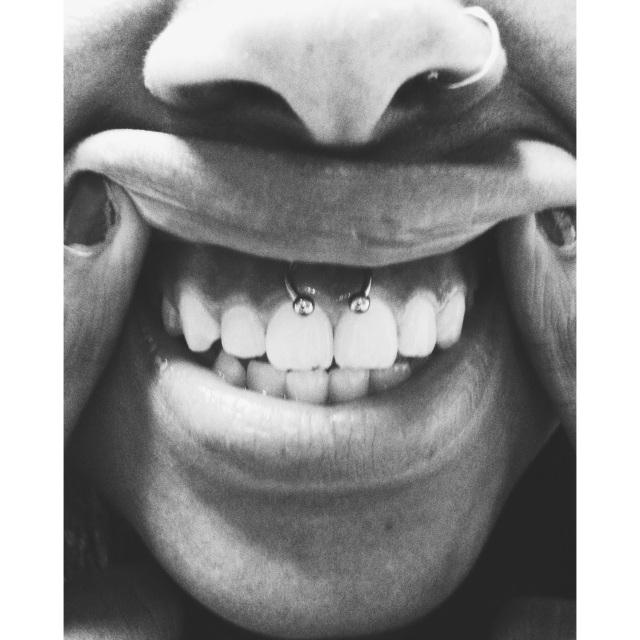 Jade's Smiley Piercing