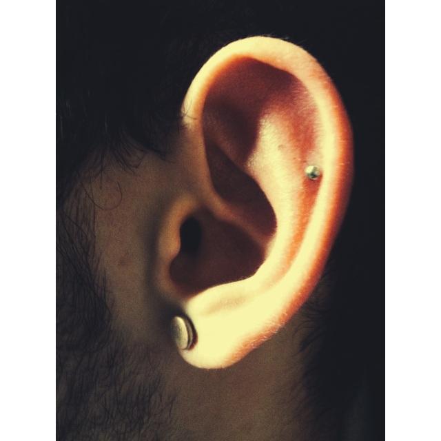Mid Ear Cartilage Piercing