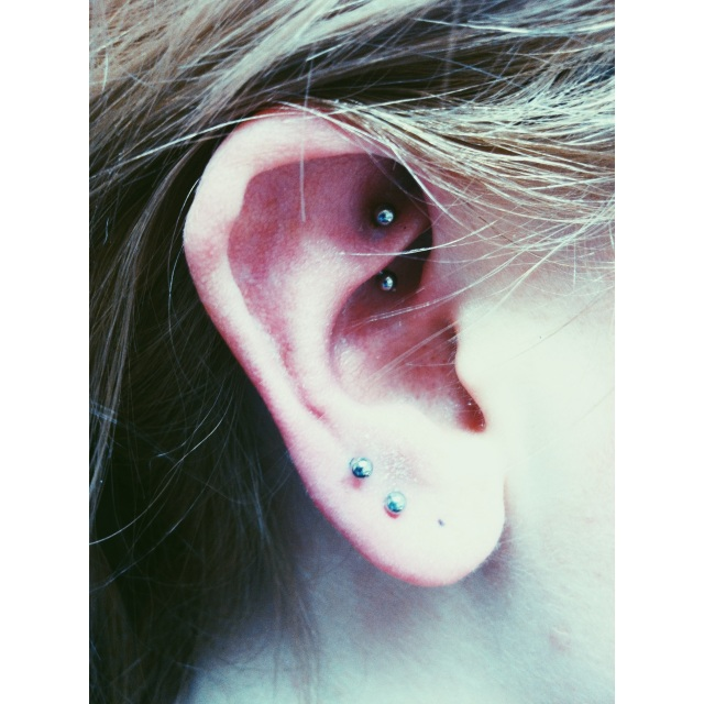 Second Lobe Piercing & Healed Rook