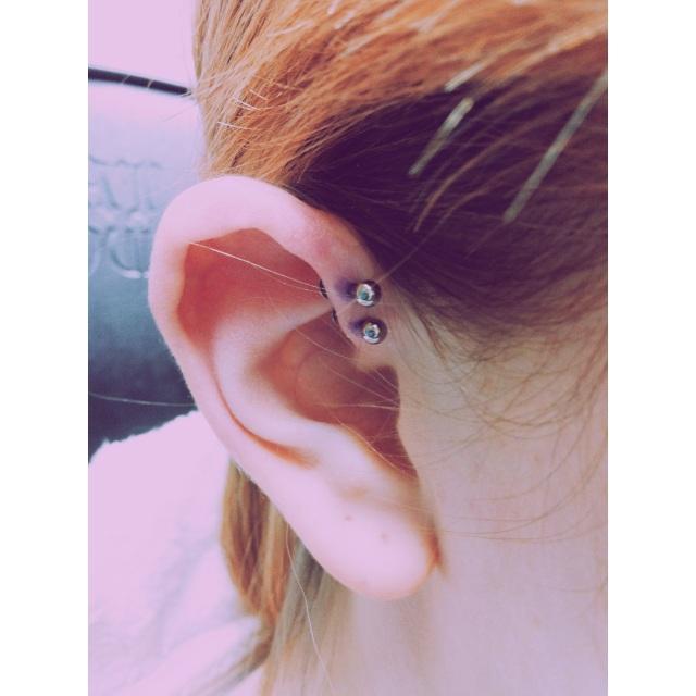 Double Inner Pinner Piercings