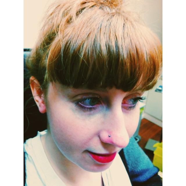 Jennah's Nose Piercing