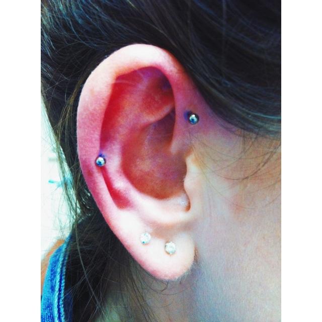Inner Pinner & Mid-Ear ⚡⚡ Double Piercings ✌