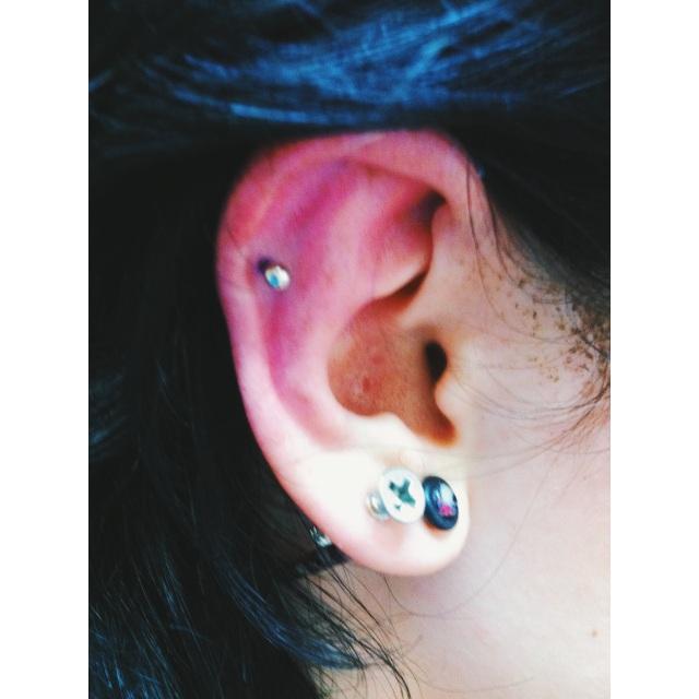 Top Ear Cartilage Piercing