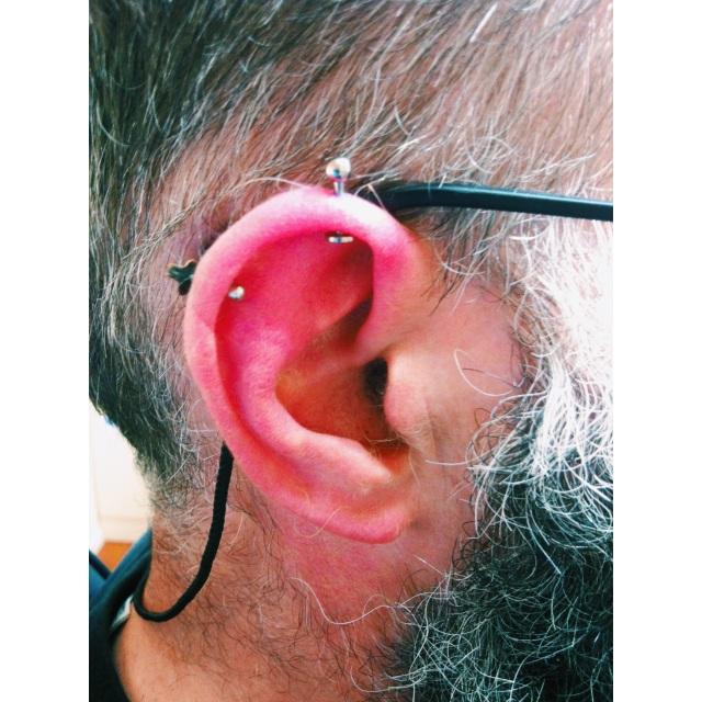 Andrew's Top Ear Piercing