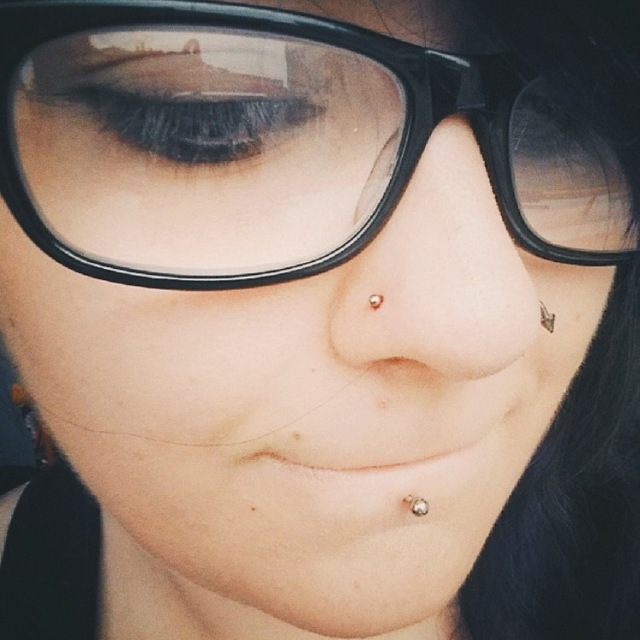 I then added a second nose piercing and a ring switch a couple months later...