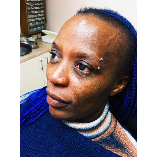 Cordillia's Nose & Eyebrow Piercings
