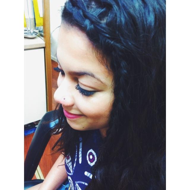 Aisha's Nose Piercing