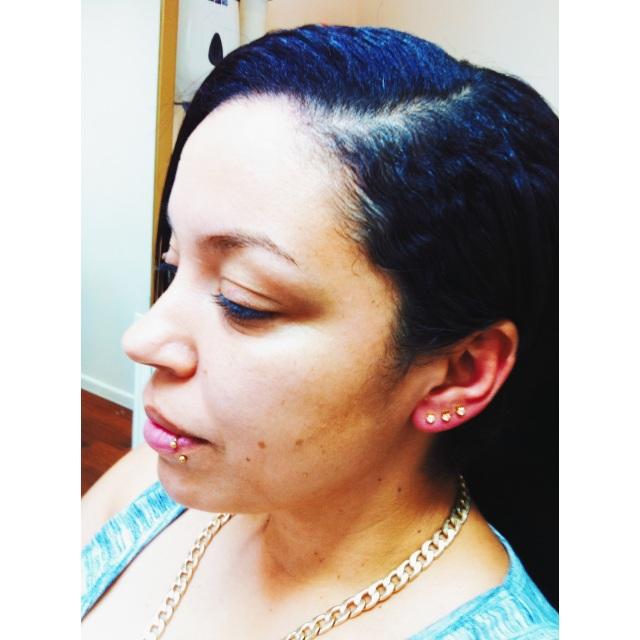 Natasha's Lip & Lobe Piercings