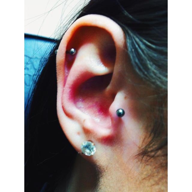 Danielle's Top Ear & Tragus Piercings