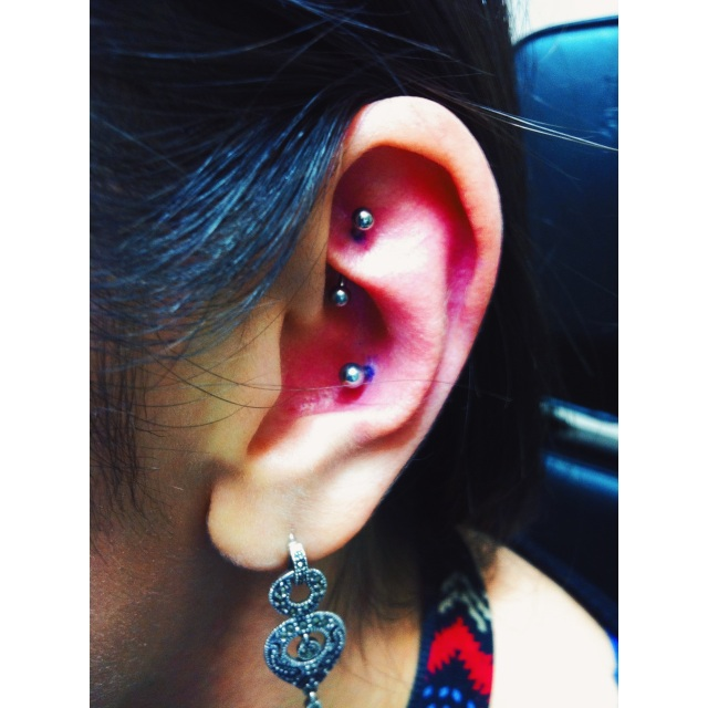 Jan's Rook & Conch Piercings