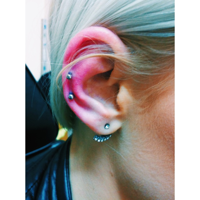 Katrin's Double Helix Piercings