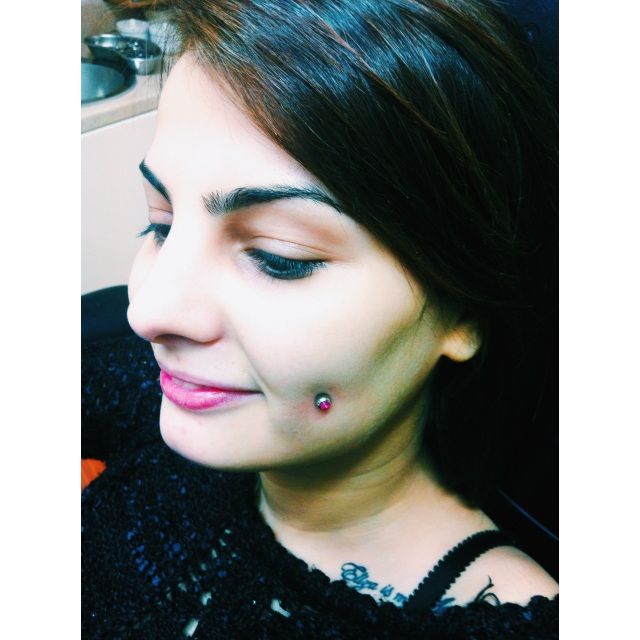 Luiza's Cheek⚡Dimple Piercing