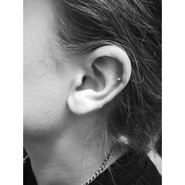 Grace's Top Ear Cartilage Helix Piercing