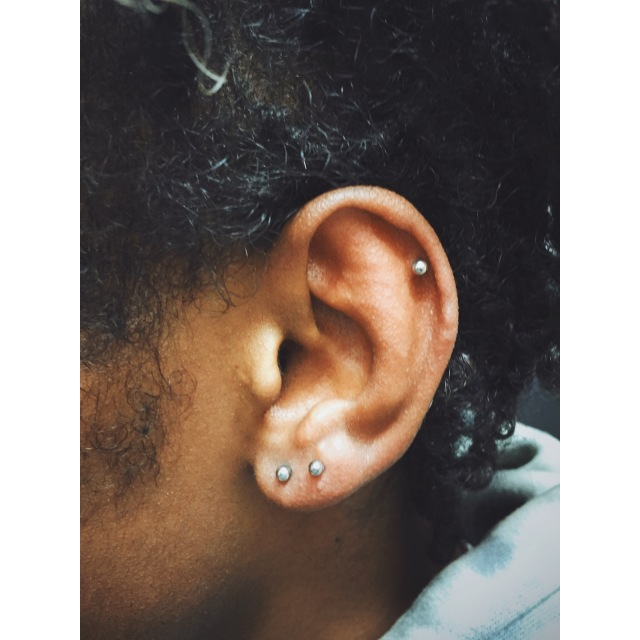Dylan's Double Piercings ⚡️ Top Ear & Second Lobe