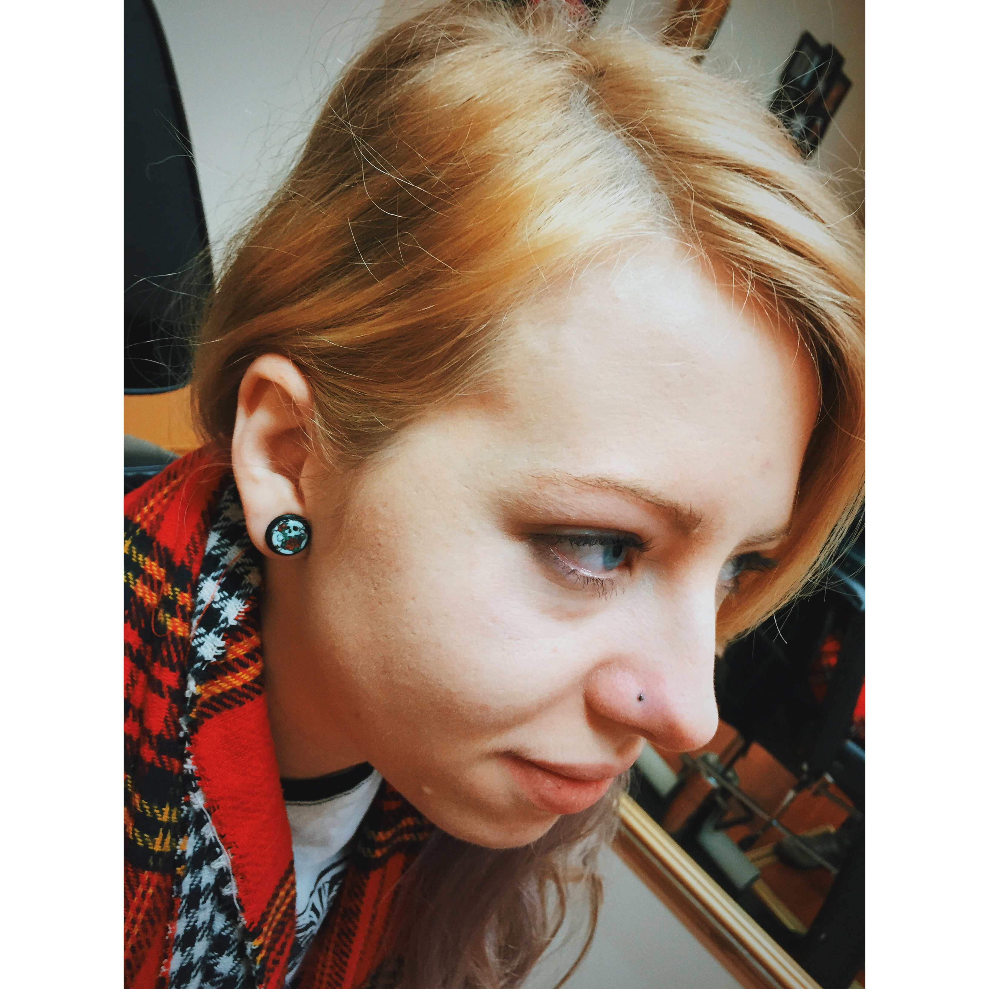 Becca's Nose Piercing