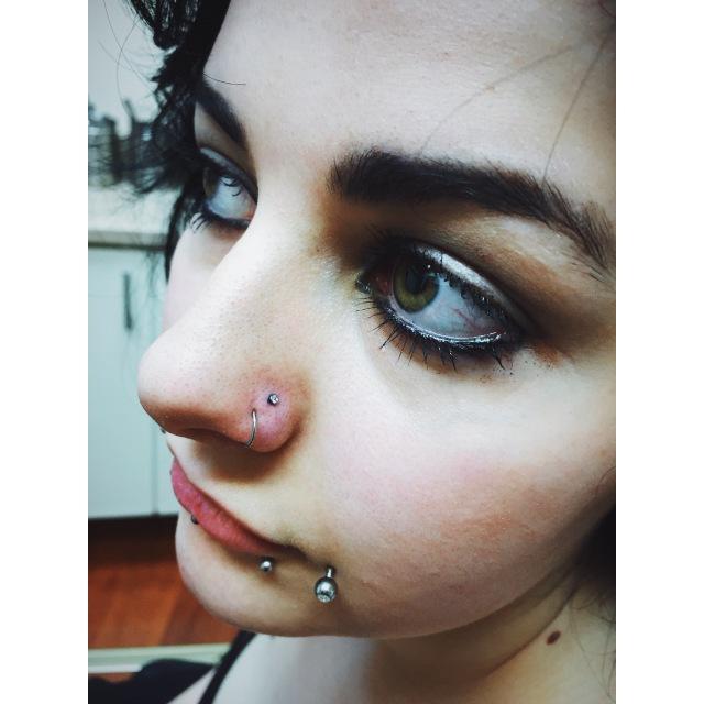 Layla's Nose Piercings