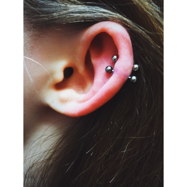 Nancy's Double Helix Piercings II