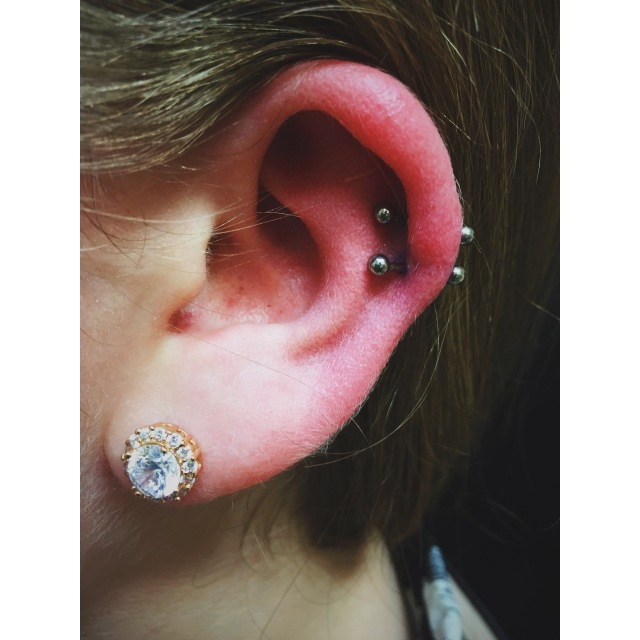 Lily's Double Helix Piercings