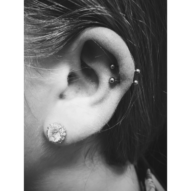 Lily's Double Helix Piercings II