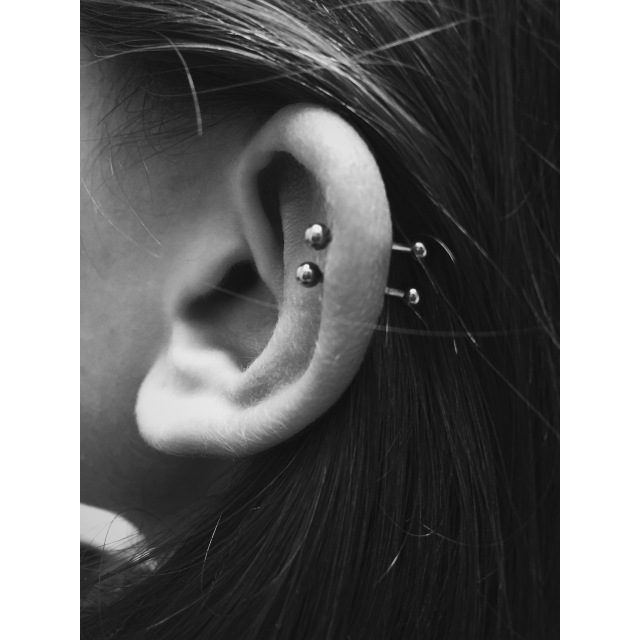 Alisa's Double Helix Piercings II