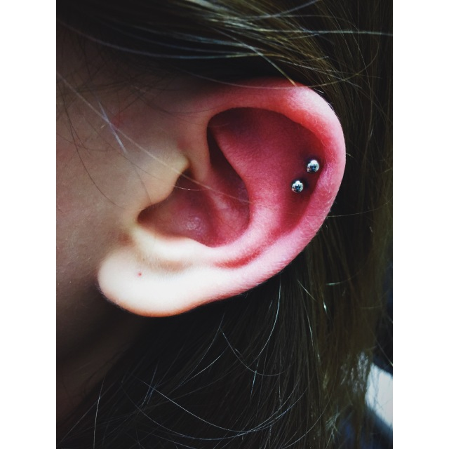 Alisa's Double Helix Piercings III