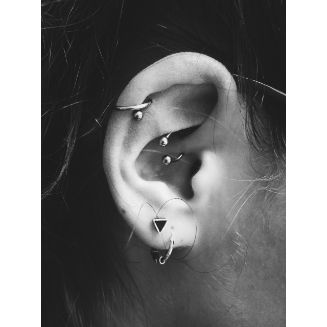 Alicja's Daith, Double Helix & Lobe Piercings