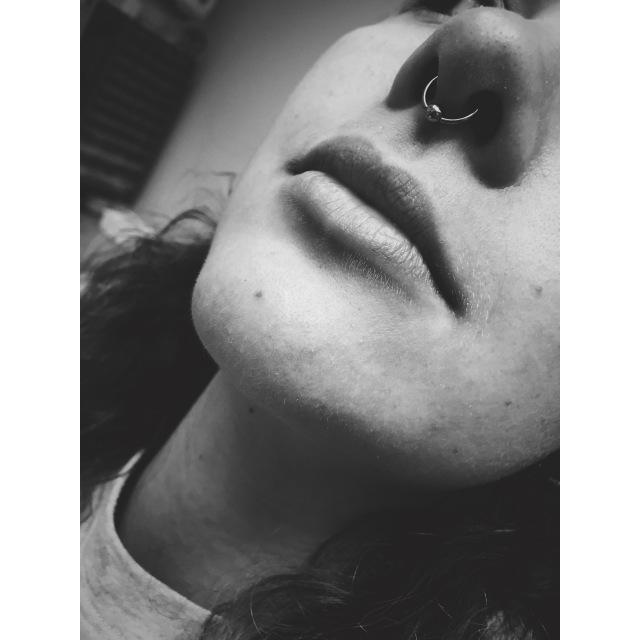 Caroline's Septum Piercing