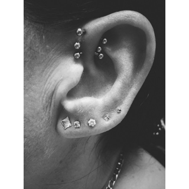 Chantel's Inner-Pinner Trio Piercings